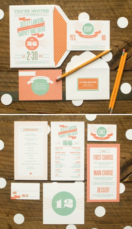 Trendy Coral Mint And Cream Wedding Color Palette