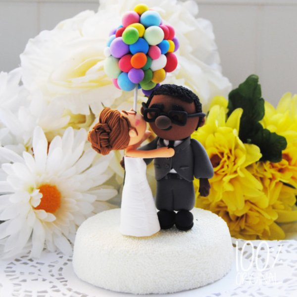 Picture of unique wedding cake toppers junglespirit