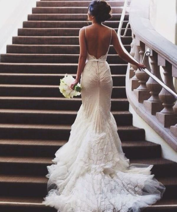Picture of jaw dropping low back wedding dresses 34 junglespirit Images