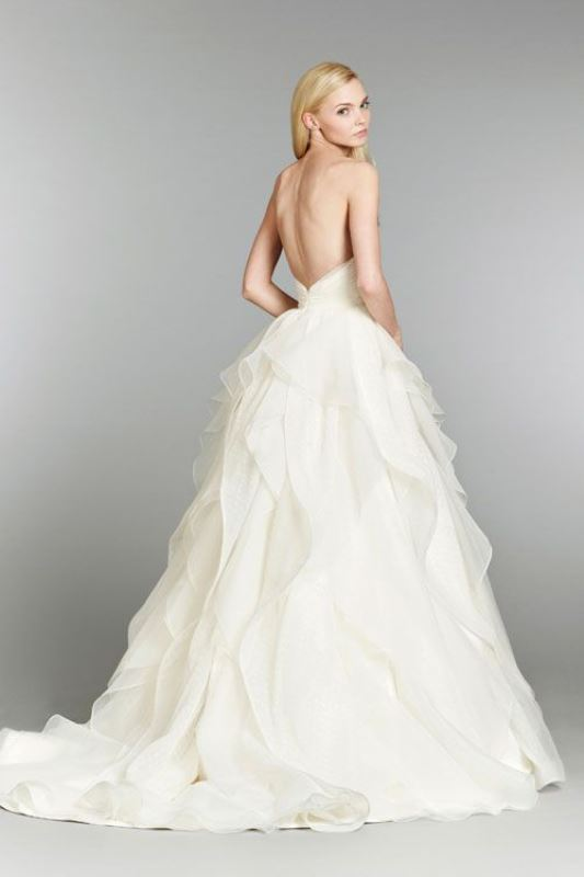 Picture Of jaw dropping low back wedding dresses 5