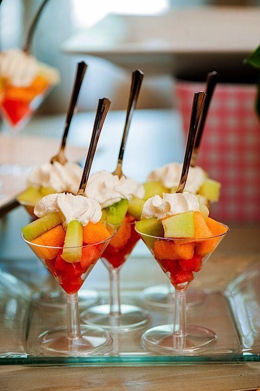 Desserts Served In Wine Glasses