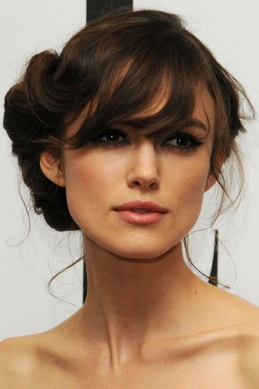 40 Wedding Hairstyles For Long Hair That Really Inspire: Picture Of A Vintage Inspired Curled Up Updo With Messy