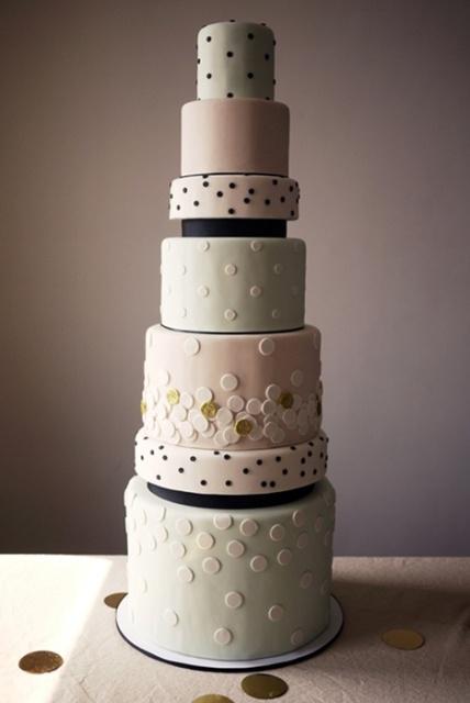 Wedding Polka Dot Cakes
