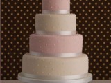 40 Wedding Polka Dot Cakes11