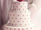 40 Wedding Polka Dot Cakes14
