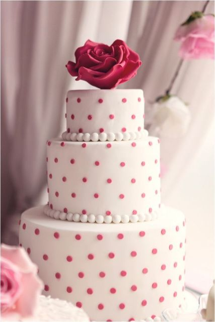 Picture Of Wedding Polka Dot Cakes 14