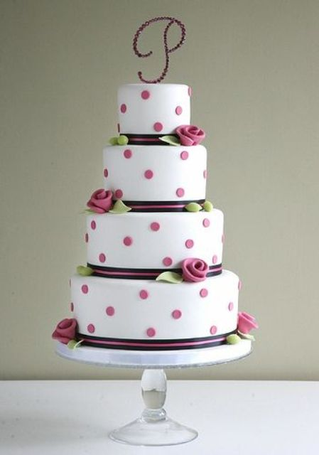 Picture Of Wedding Polka Dot Cakes 17