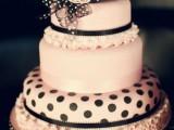 40 Wedding Polka Dot Cakes18