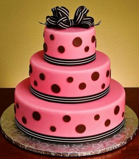 Picture Of Wedding Polka Dot Cakes 2