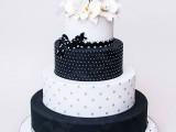 40 Wedding Polka Dot Cakes20