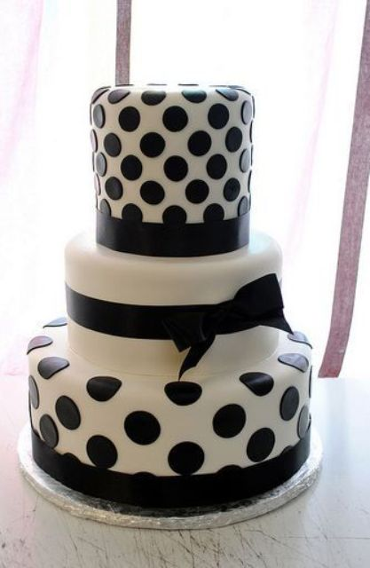 Picture Of Wedding Polka Dot Cakes 21