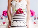 40 Wedding Polka Dot Cakes23