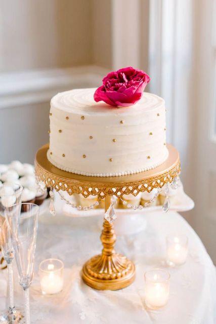40 Cheerful And Playful Polka Dot Wedding Cakes ...