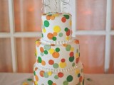 40 Wedding Polka Dot Cakes9
