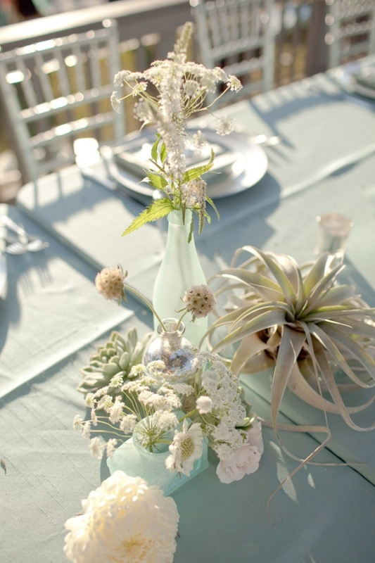 Beach Wedding Table Decorations Simple
