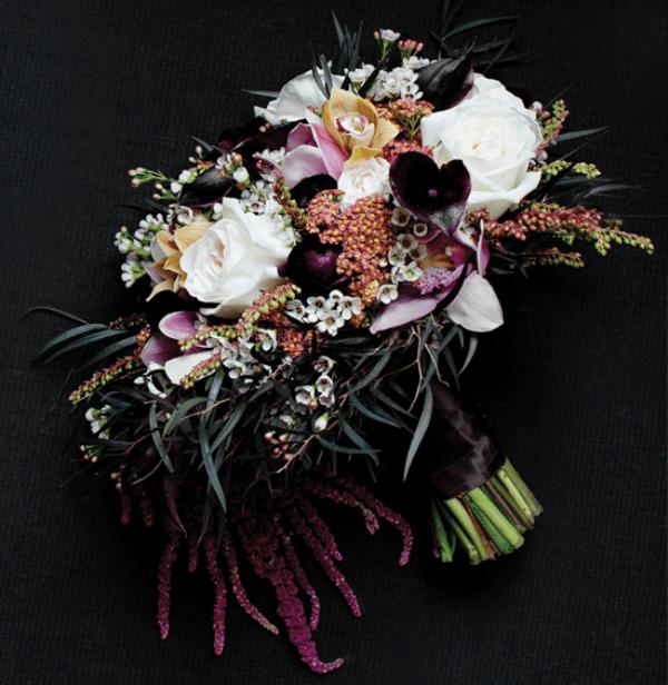Glamorous Wedding Ideas: Picture Of Glamorous Dark Purple Wedding Inspirational Ideas