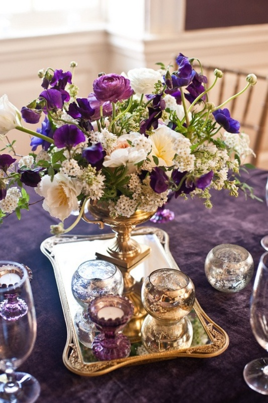 40 glamorous dark purple wedding inspirational ideas weddingomania glamorous dark purple wedding inspirational ideas junglespirit Choice Image