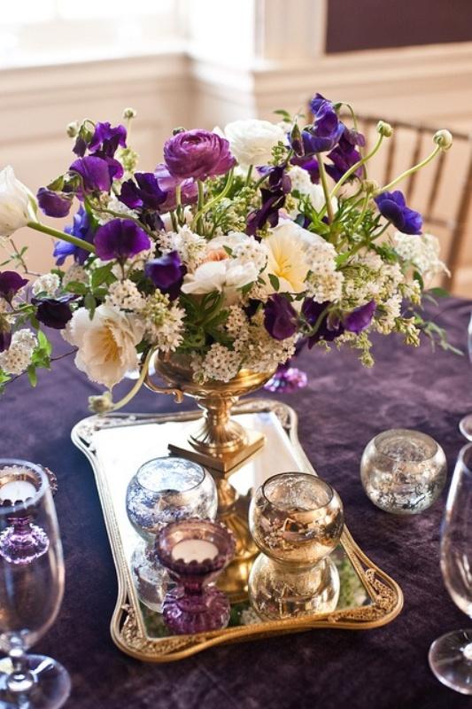 Purple Gold Centerpiece Ideas : Pics for gt purple and gold wedding centerpieces