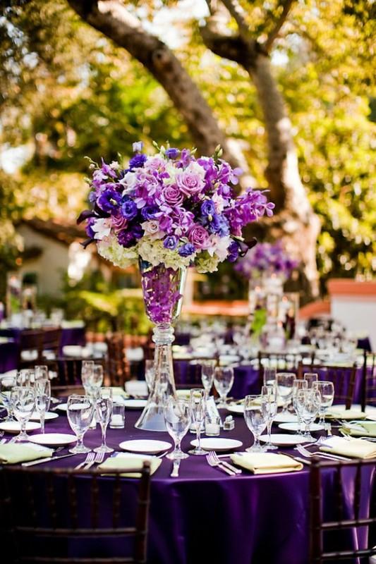 40 Glamorous Dark Purple Wedding Inspirational Ideas Weddingomania.