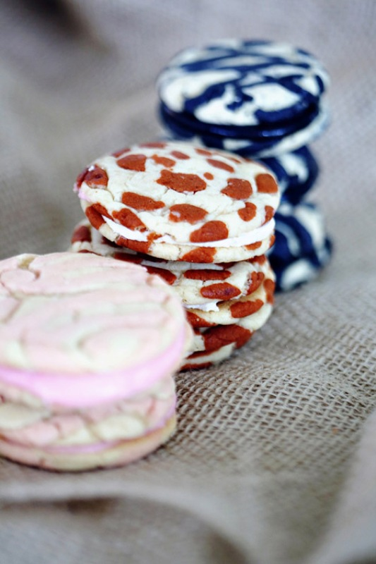 creative patterned cookie sandwiches including a leopard print one is a fun idea for a safari themed wedding