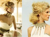 safari-themed statement bridal accessories inspired by African cultures look very bold