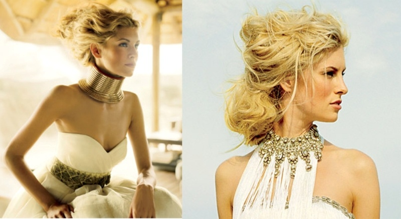 safari themed statement bridal accessories inspired by African cultures look very bold