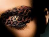 a bold leopard eyeshadow is a statement idea for a safari bride