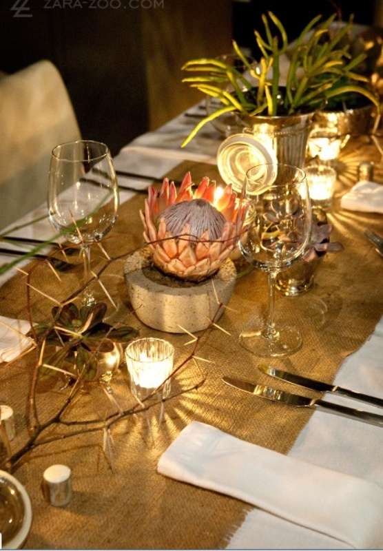 Picture of hot safari inspired wedding ideas for African party decoration ideas