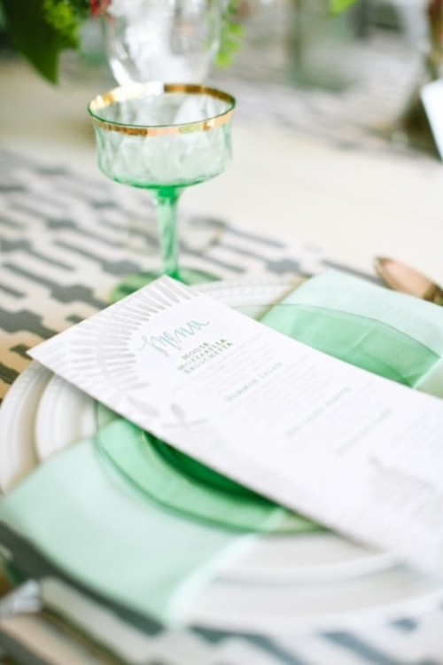 40 Stylish And Lovely Mint Wedding Ideas - Weddingomania