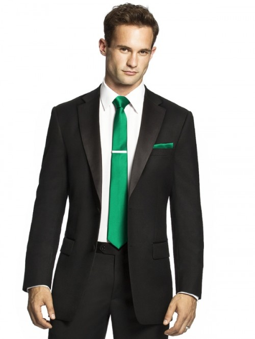 an emerald is a simple way to integrate this bold shade into your groom's look