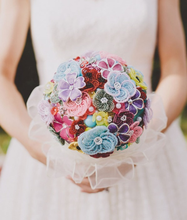 Unique Bridal Flower Bouquets : Picture of unique and non traditional wedding bouquets