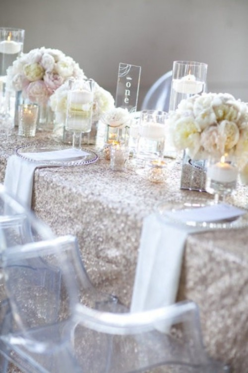 Trendy Glittery Wedding Ideas