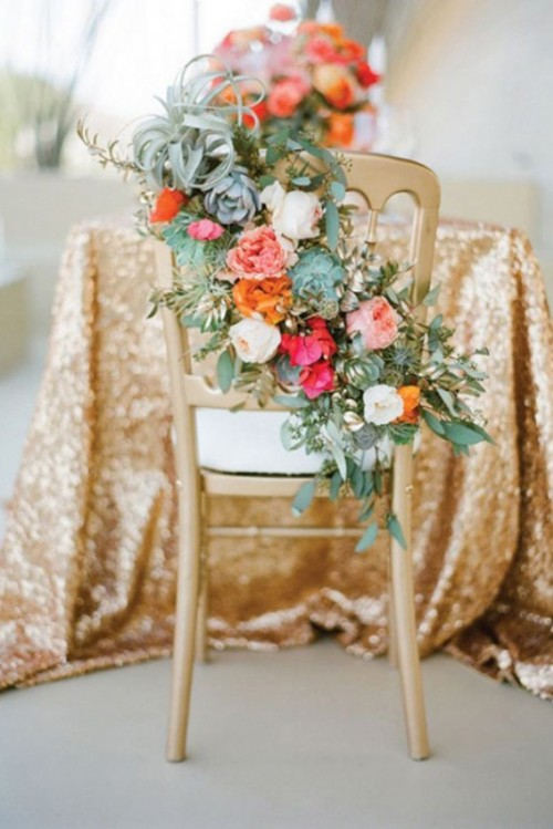Pretty Floral Garlands And Wreaths Wedding Decor Ideas