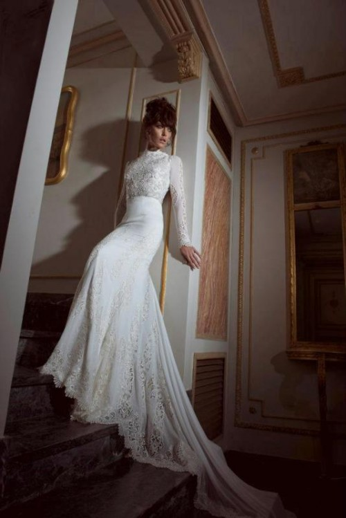Romantic And Exquisite Sleeve Wedding Dresses