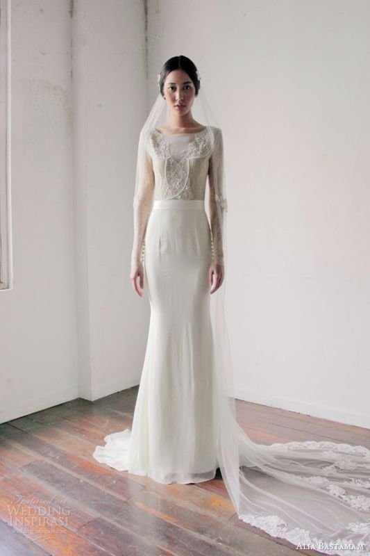 Picture Of Romantic And Exquisite Sleeve Wedding Dresses