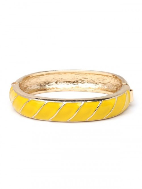 a pretty yellow enamel bracelet will make a color statement in your spring or summer bridal look