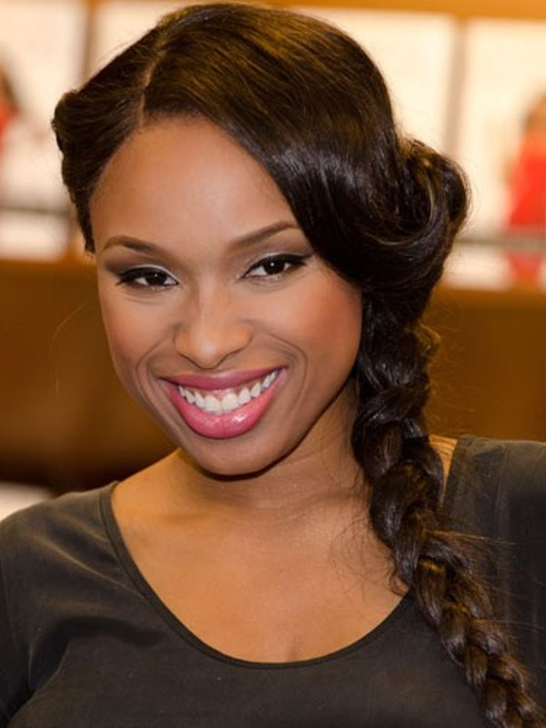 a braid with a sleek top and waves is a simple and chic idea that you can easily DIY