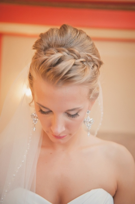 an updo with a braid on top and some locks down is a very elegant and chic option