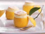 vanilla mini cakes served in lemons is a tasty food idea and creative serving