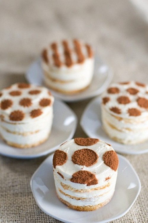 mini tiramisu with mascarpone are a gorgeous way to add a touch of Italian cuisine to the dessert bar