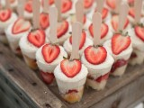 mini strawberry pies in glasses are a delicious and fresh idea for a summer wedding