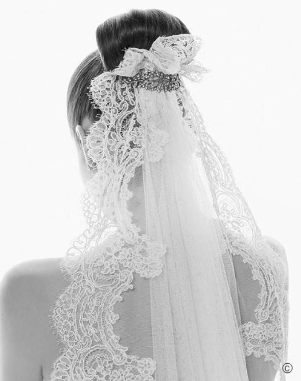 How to wear a mantilla veil