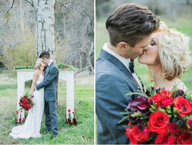 Picture Of shades of grey romantic wedding inspiration  4