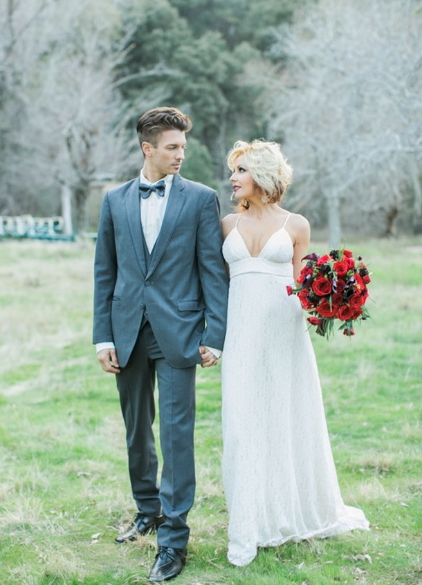 Picture Of shades of grey romantic wedding inspiration  7