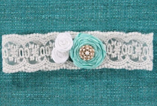 DIY Lace 'Something Blue' Bridal Garter