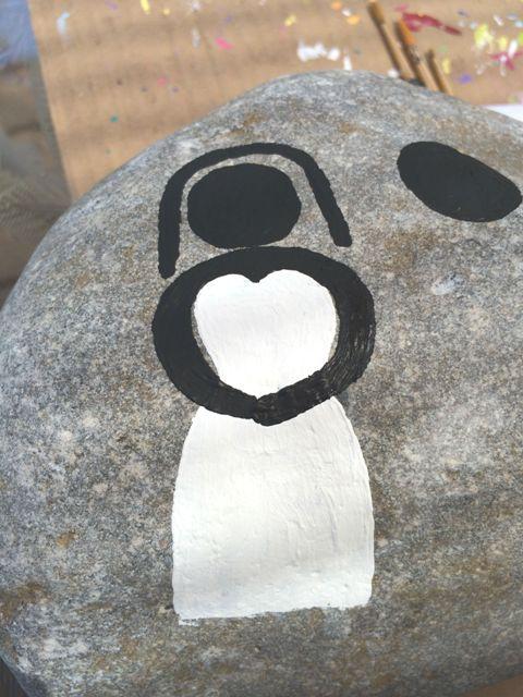 DIY Wedding Memory Stones Guest Book