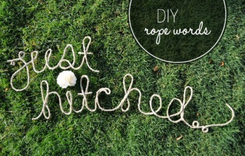 Amazing DIY Rope Words For Your Wedding