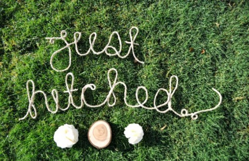 Amazing DIY Rope Words Decor For Your Wedding