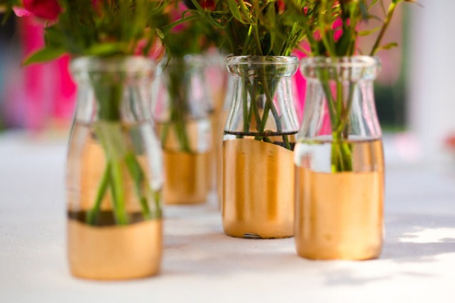 Picture Of Chic Diy Gold Painted Vases 5