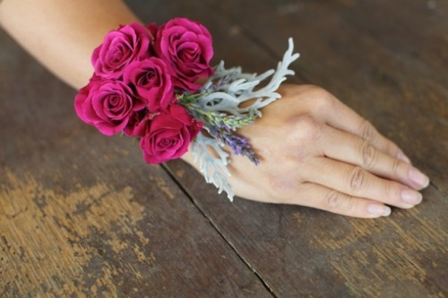 Chic And Tasteful DIY Wrist Corsage With Roses